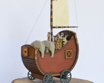 """Wooden Noah's Ark """"This lil ark of mine"""""""