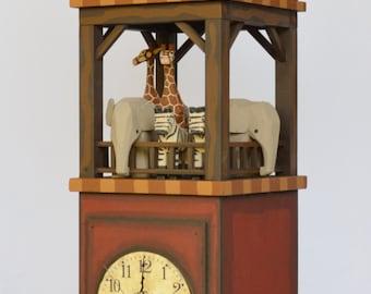 Wooden Noah's Ark Ship's Tower Clock