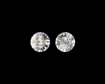 Swarovski 3015 Rivoli Clear Crystal Button  e24ba82295ed