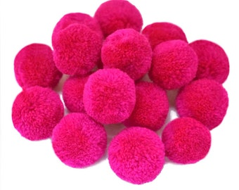 Large Pom Poms XL Hmong Pom Poms : Handmade Hmong /& Lisu Hill Tribe Pom Poms  Hot Pink Pom Poms Fluffy Pom Pom Pastel Pink Yarn Pom Poms