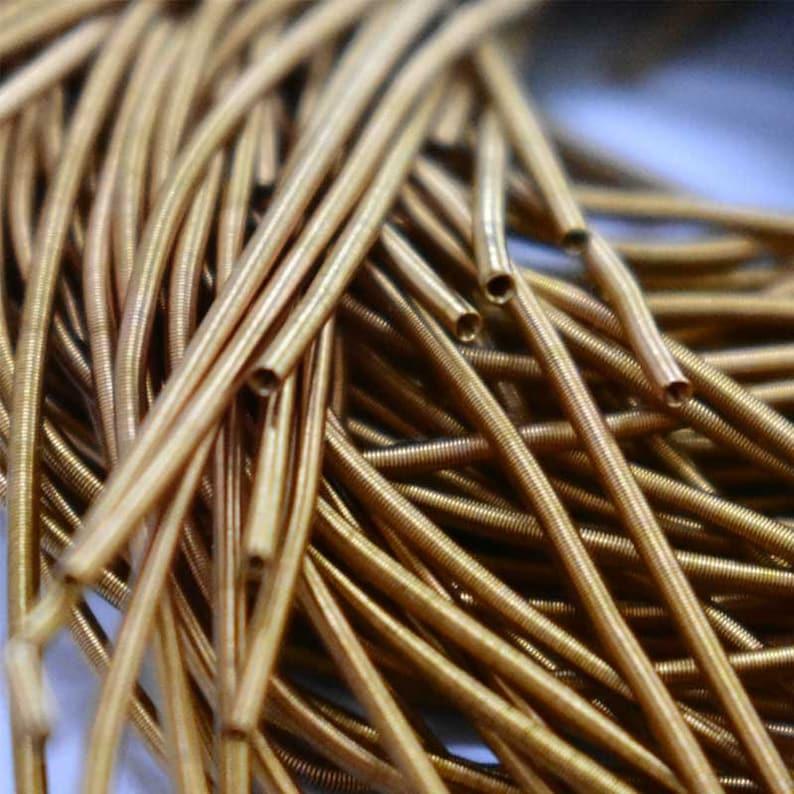 EMBKR06144 100Gram KoraMatte Finish Bullion Wire French Wire Metallic Wire in Gold Color 1MM