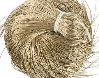 125 Yard/Packet, 0.5MM Thinnest French Metallic Wire/ French Wire/Bullion Wire in Pale Gold Color-EMBFW4957(100 Grams)