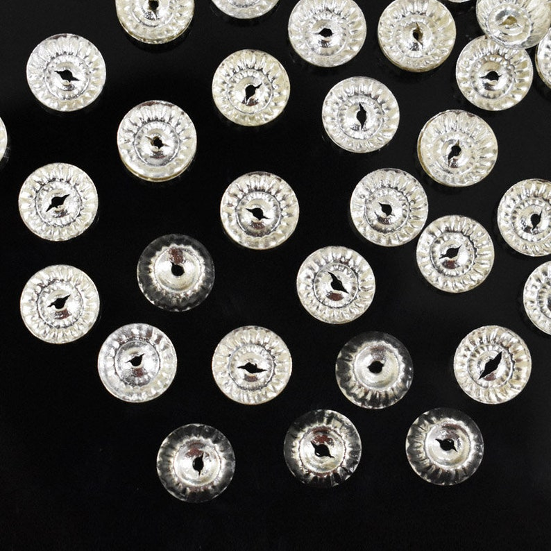 12MM Round Shape Centre-Hole Silver SequinsMetal CharmsCharms-EMBMS5196
