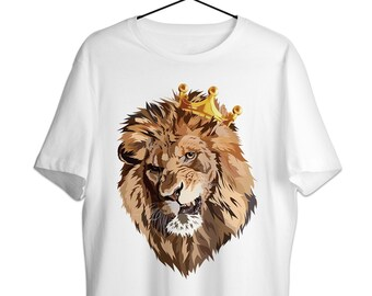 7a2b3e7e8952 Lion King T-Shirt Shirt - Funny Nature Animal Head Tee For Men - Trendy  Lions Lover Gift Unisex Personalized Tshirt Print - Novelty Face Art