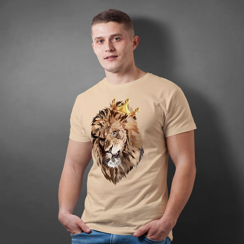 0a0791e9 Lion King T-Shirt Shirt Funny Nature Animal Head Tee For Men | Etsy