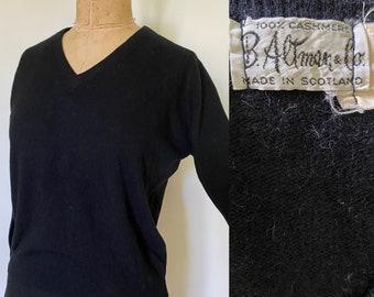 Black cashmere top | Etsy