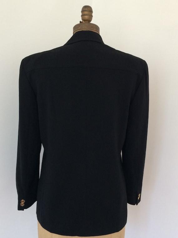 Gucci vintage 1970's black wool women's blazer - image 5