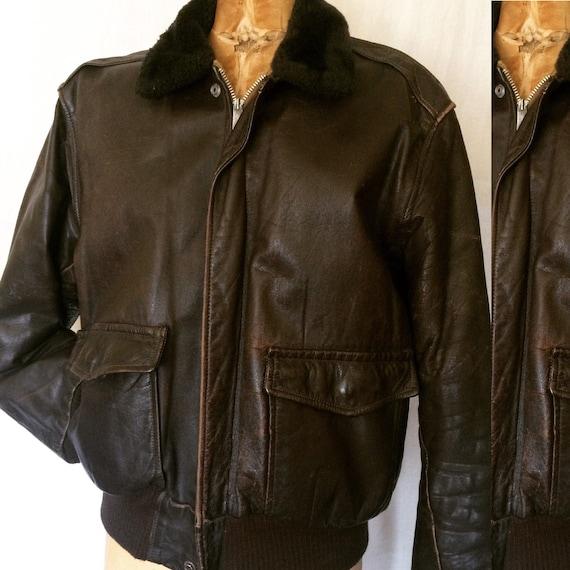 Vintage motorcycle jacket 1950s/60s steer hide bro