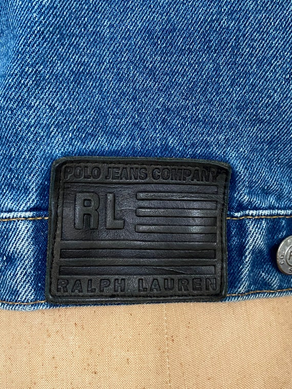 1980s Polo Ralph Lauren denim cropped barn jacket - image 10