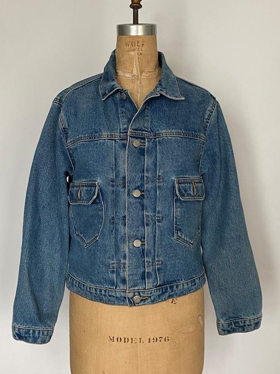 1980s Polo Ralph Lauren denim cropped barn jacket - image 6