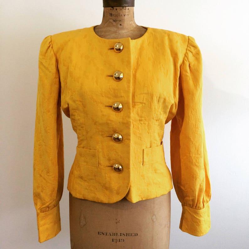 07540b32437 Yves Saint Laurent Rive Gauche Vintage Gold Brocade Evening | Etsy