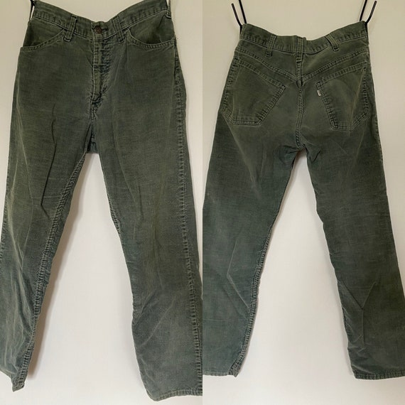 "Vintage Levi's green corduroy pants 28"" waist"