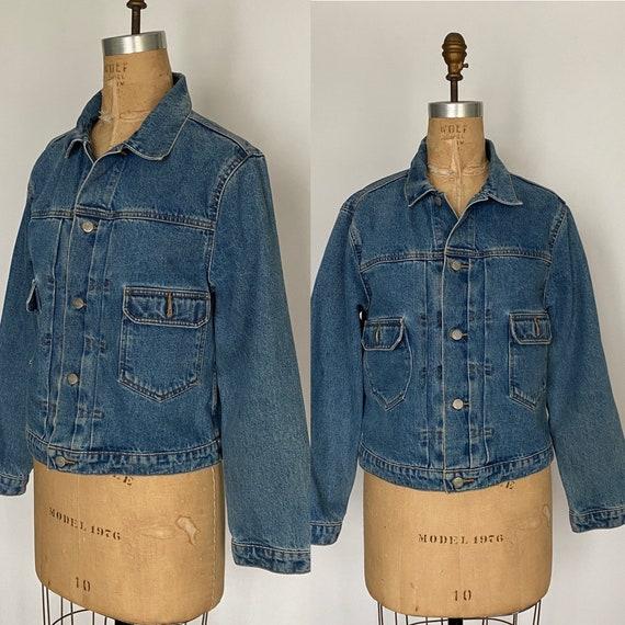 1980s Polo Ralph Lauren denim cropped barn jacket - image 1