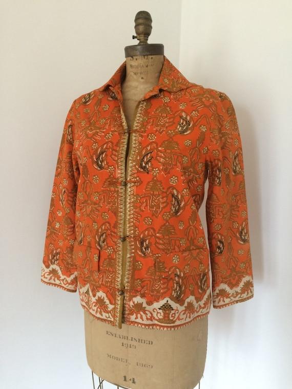 1960's Indian print cotton jacket