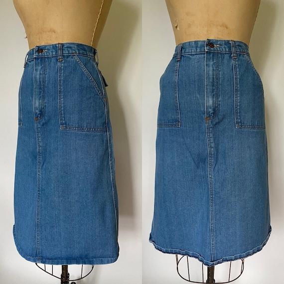 1970's vintage denim skirt with pockets