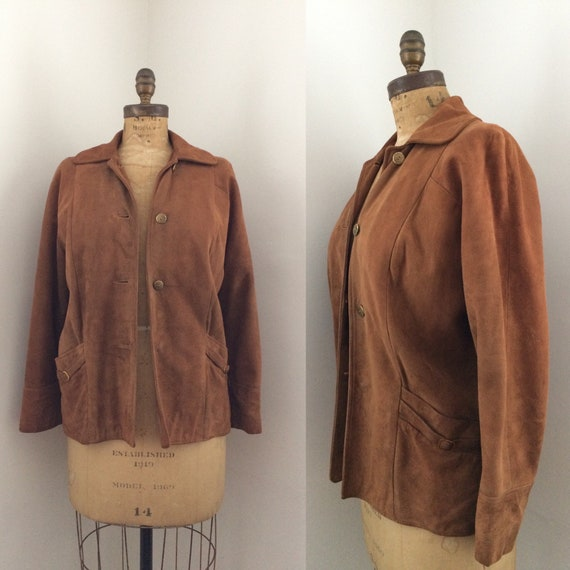 1960s Suede Rust colored Jacket