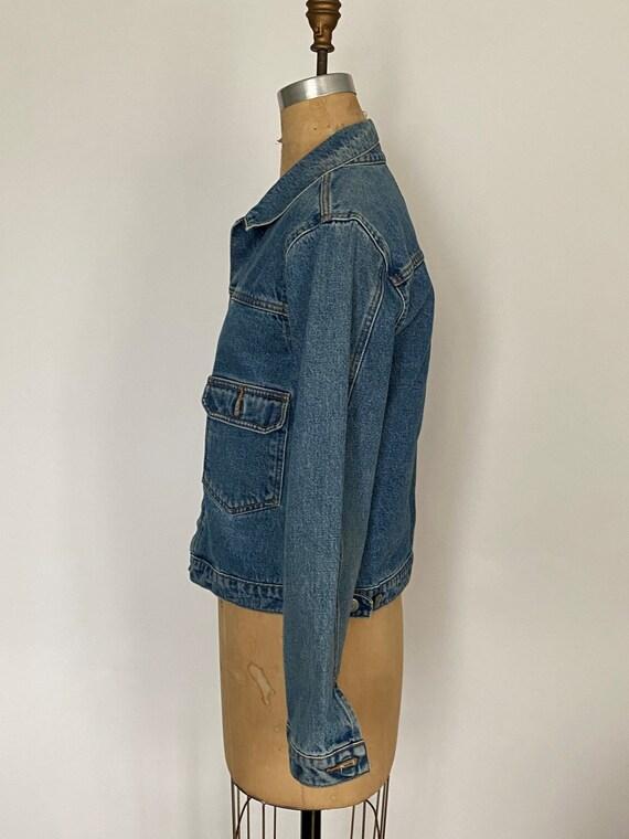 1980s Polo Ralph Lauren denim cropped barn jacket - image 8