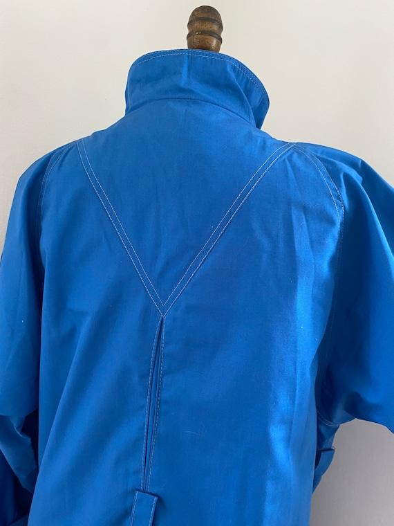 Pauline Trigere vintage 1980s blue trench coat - image 6