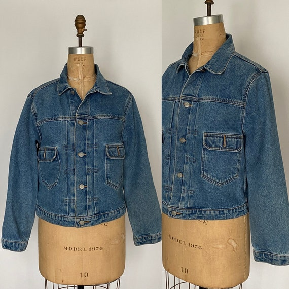 1980s Polo Ralph Lauren denim cropped barn jacket - image 2