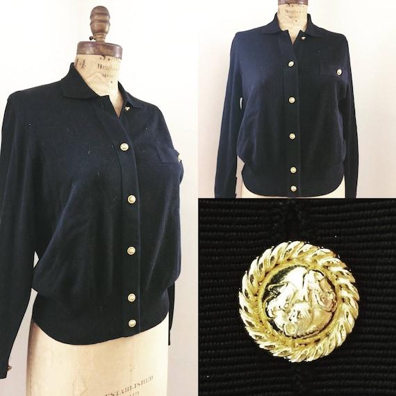 Ferragamo Sweater Jacket w/ Ferragamo Logo buttons