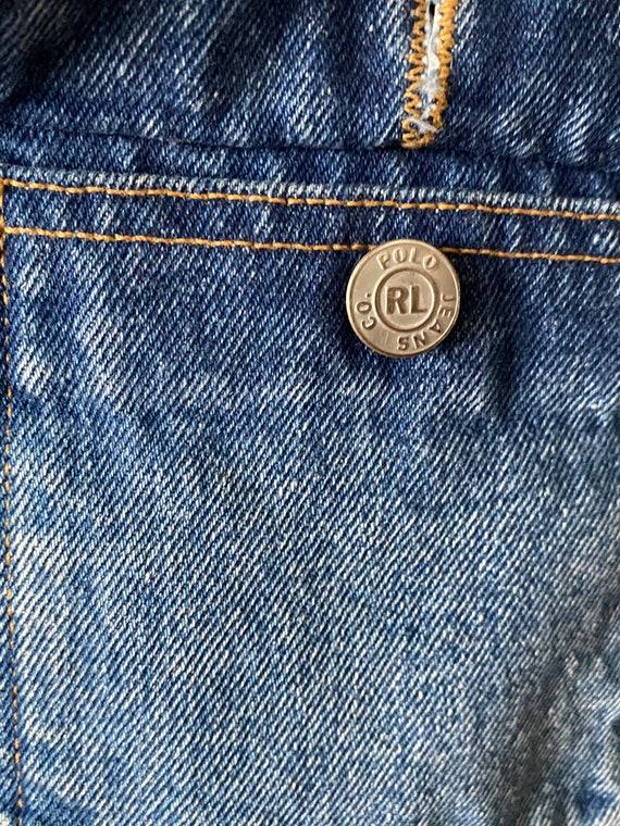 1980s Polo Ralph Lauren denim cropped barn jacket - image 4