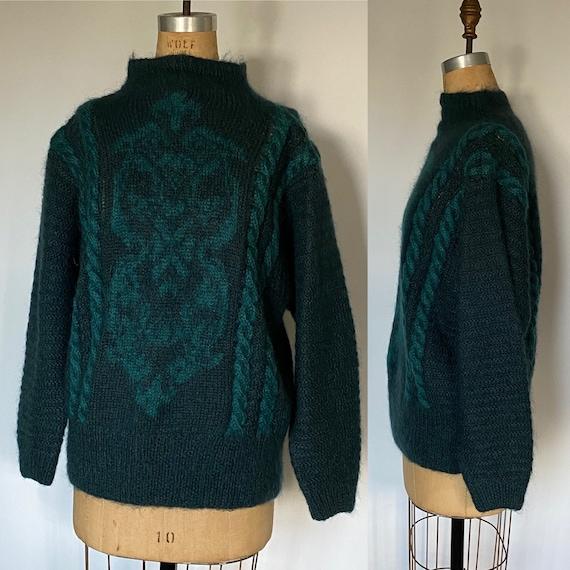 Ellen Tracy vintage mohair sweater size L 1980's