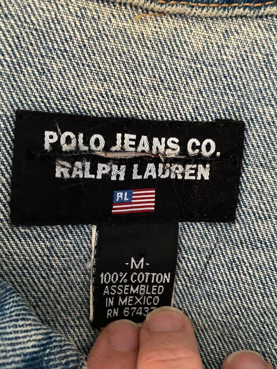 1980s Polo Ralph Lauren denim cropped barn jacket - image 9