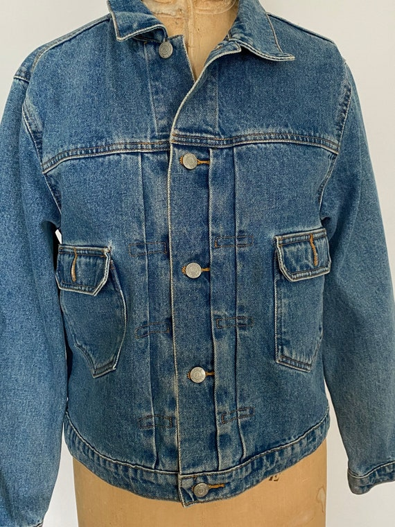 1980s Polo Ralph Lauren denim cropped barn jacket - image 7
