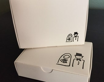 Take the Cake Favor Boxes - Happy Couple (Set of 10)