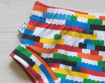 Baby shorts - 4th of July baby outfit - diaper cover boy - baby shower gift - building bricks baby gift - baby boy shorts - baby bloomers