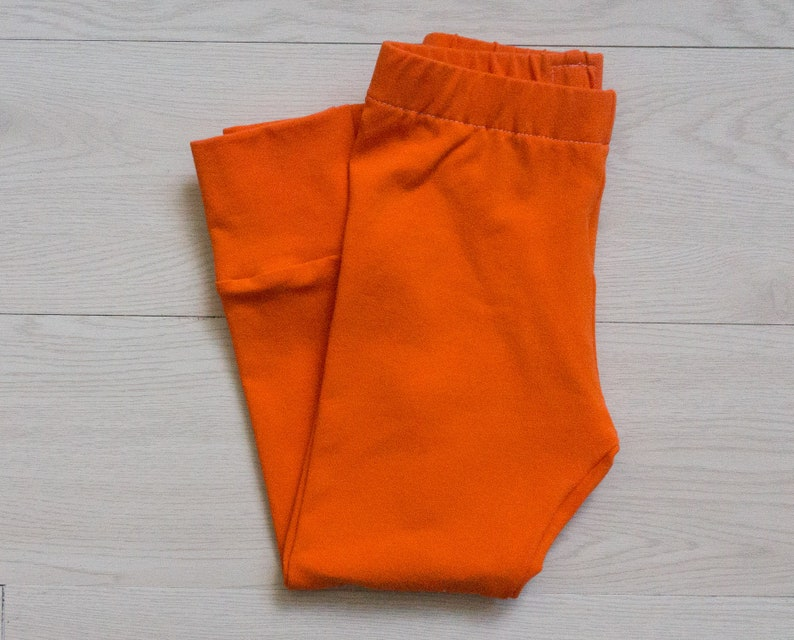 Halloween pants for kids orange baby leggings  Thanksgiving image 0