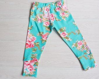 Newborn baby girl - boho baby girl leggings - floral outfit girl - baby girl shower gift - baby leggings toddler - baby girl clothes