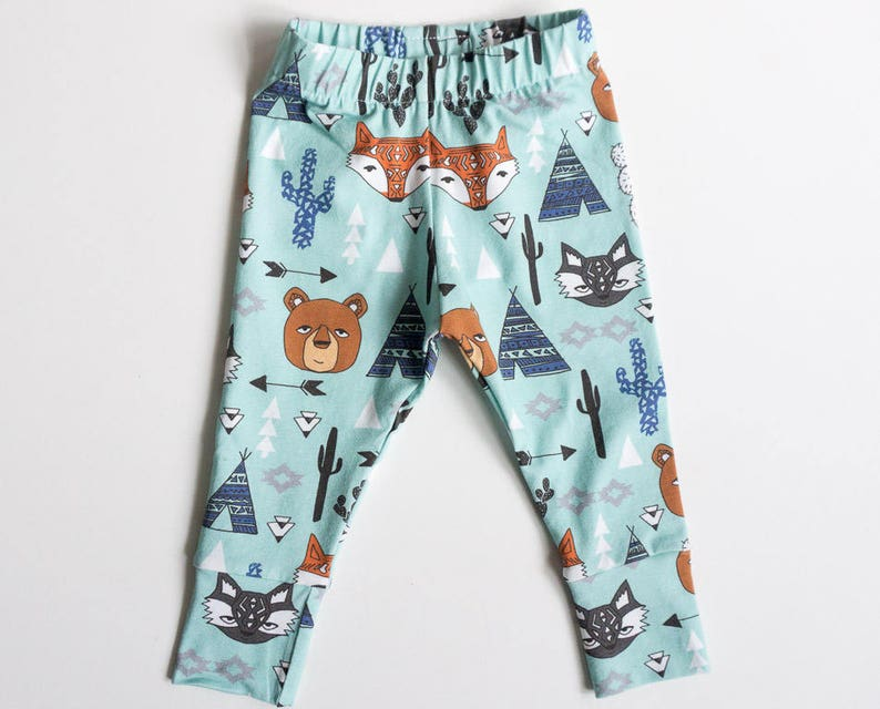 Bear leggings  southwest baby pants back to school clothes  image 0