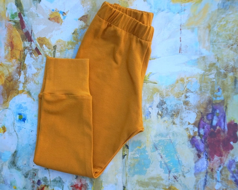 solid color legging baby girl school clothes toddler solid leggings gift for girl or boy coordinates kids Mustard baby leggings