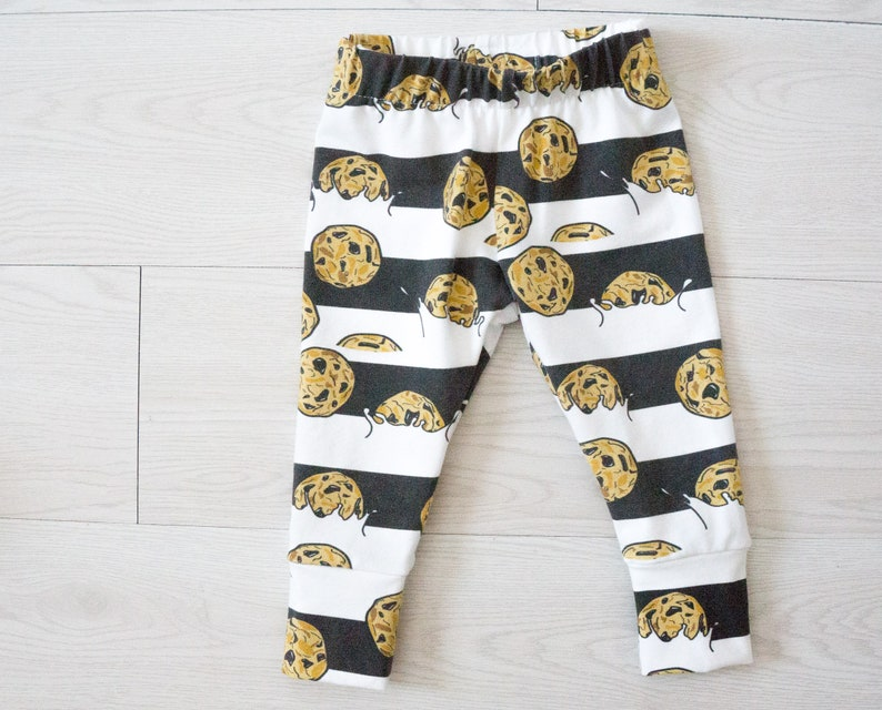 Baby shower gift for cookie lover  3 to 6 month baby leggings image 0