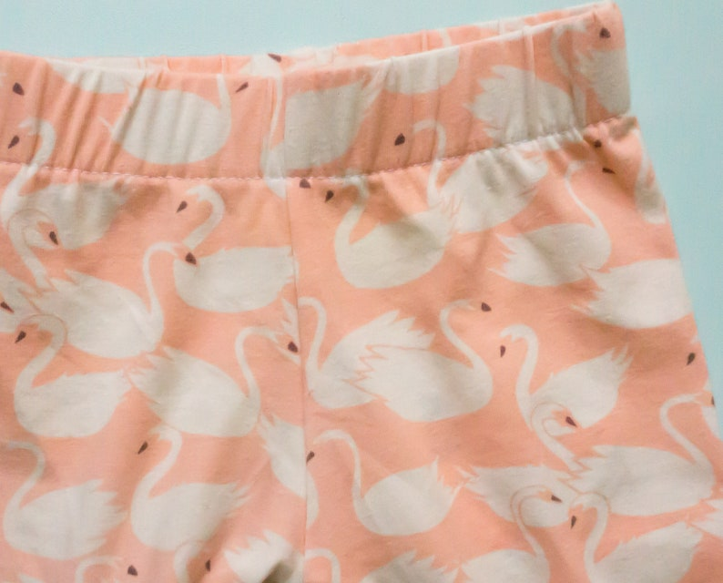 Baby girl shower gift   swan leggings for infant size 0-3 image 0