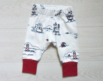 Baby boy gift - baby leggings - 4th of July baby outfit - beach lover baby gift - unisex baby shower gift - lighthouse baby clothes