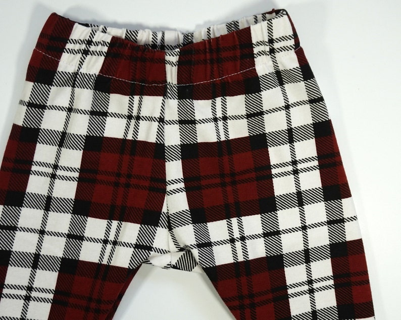 Christmas buffalo plaid leggings for baby and toddler  baby image 0