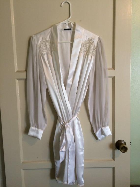 Vintage Bridal White Christian Dior Lace Robe