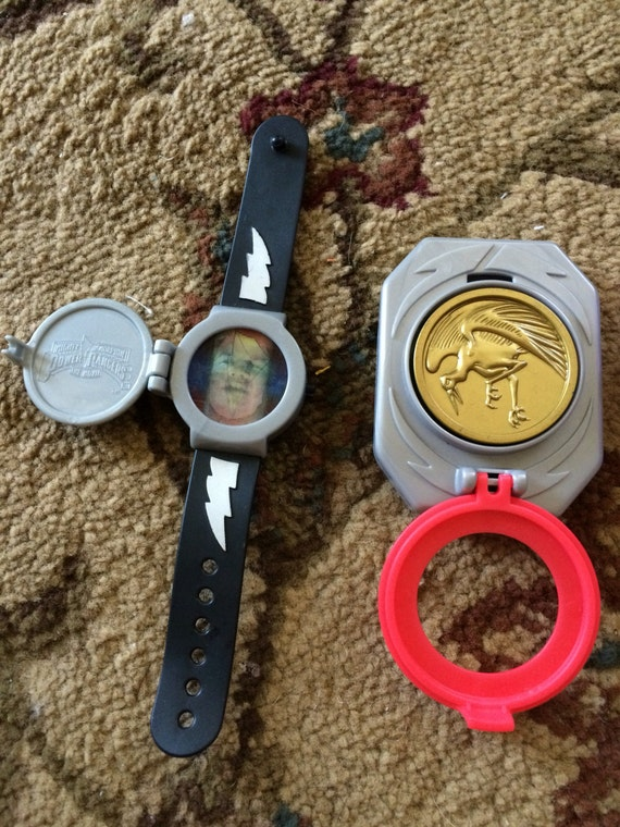 Vintage Power Rangers Accessories Watch, Buckle with coins and Radio