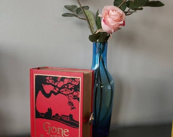 Gone with the Wind Book clutch bag - handmade from a real book. book bag / hidden storage box MADE TO ORDER
