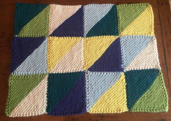 Runde Decke /Lap Decke stricken / gestrickte Runde Decke / | Etsy