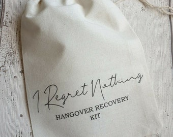 Hangover Kit Bags I Regret Nothing Wedding Recovery Kit Hen Party Bachelorette