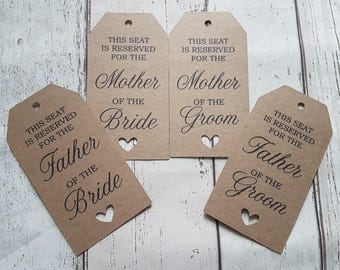 Wedding Reserved Sign Tag Rustic Vintage Chair Reserved Sign Personalised