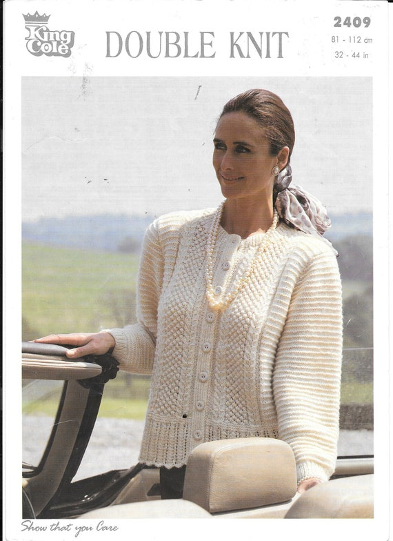 Original King Cole knitting pattern for a ladies double knit | Etsy