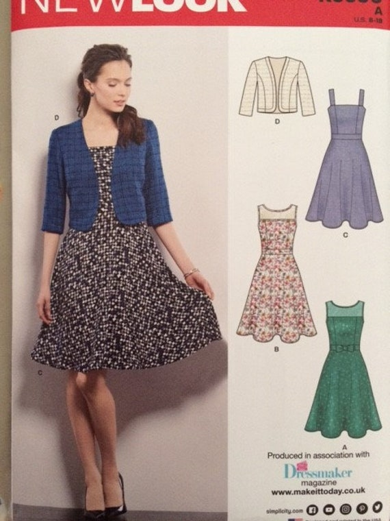 New Look sewing pattern K6390 - size 8 - 18 / 34-44 ins. 3 style of ...