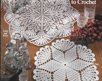 Vintage original crochet pattern for classic doilies - 5 designs to crochet.  By American School of Needlework.