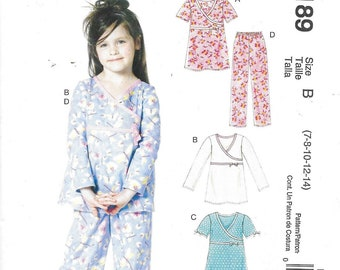 Easy Stitch and Save sewing by pattern by McCalls M6189.  Girls nightwear - age 7-8-10-12-14
