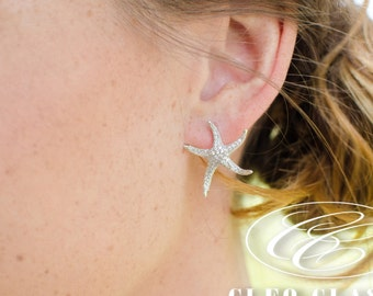 Beach Wedding Bridesmaid Starfish Earrings,Bridesmaid jewelry, Bridesmaid Gifts,Bridesmaid Earrings,Bridesmaid sets, Bridal Earrings