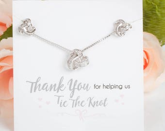 Knot Earring & Necklace Set   Bridesmaid Gifts   Bridesmaid Earrings   Bridesmaid Sets   Love Knot Earrings   Tie the Knot